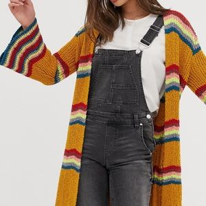 Free People Winding Road Cardigan Striped Sweater